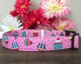 dog collar, birthday dog collar, happy birthday dog collar, cupcake dog collar, balloon dog collar, party dog collar, birthday dog bow