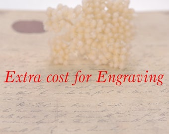 The extra cost for Engraving Inscriptions inside the wedding band,engagement ring,pendant,earring studs,i love you gift