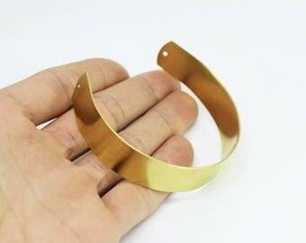 1 Pc Handmade Wide 15mm Raw Brass Cuff Bracelet Bangle - 15 mm Bracelet Blank - Cuff Bracelet, Handmade Cuff Bracelet Bangle
