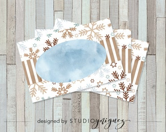 Holiday Printable Place Cards, Christmas Place Cards, Printable Place Cards, Instant Download