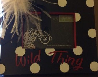 Wild Thing Polka Ditted Picture Frame