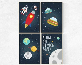 Space theme playroom decor outer space toddler room decor for Outer space decor