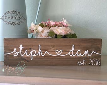 Custom Name Sign - Personalized Name Sign - Wedding Gifts for Couple - Valentines Gift - Name Sign - Housewarming Gift - Bridal Shower