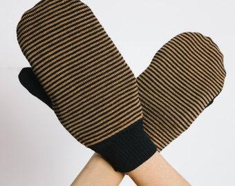 NEW stripped merino wool mittens, FW16