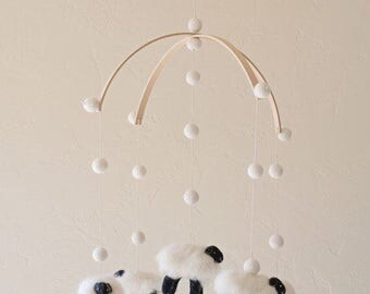 nursery decor - baby mobile - Lamb mobile - Sheep mobile