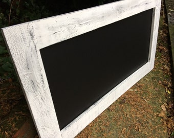white & black chalkboard wooden rustic chalkboard kitchen menu