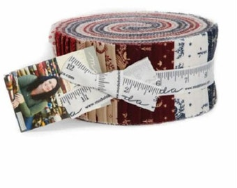 "Moda Fabric ~ Jelly Roll ~ Liberty Gatherings ~ (40) 2.5"" Cotton Quilting Strips 1200JR"