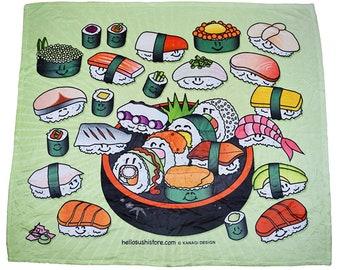 Sushi Throw Blanket Idea, Bulky Blanket Gift, Warm Sofa Blanket Gift, Food Lap Blanket Gift, Cool Blanket Gift, Japanese Art Blanket, Cute