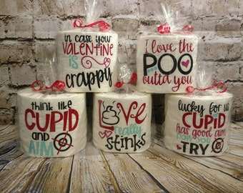 Valentine toilet paper, Valentine gift, Valentine gag gift, Valentine white elephant, gag gift, funny gift, gifts for him, gifts for her