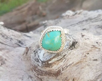 Sterling Silver Natural Turquoise Ring