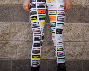 Cassette Tapes Leggings (size Medium)