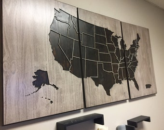 Us Map Wall Art usa map decal | etsy