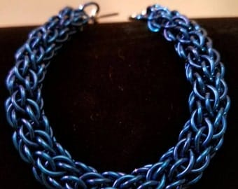 Royal Blue CCC Chainmaille Bracelet