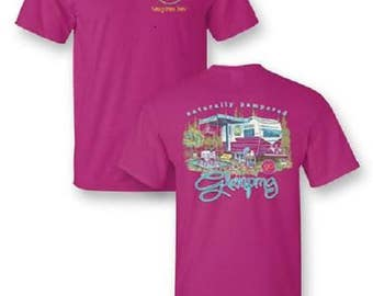 Sassy Frass Glamping Happy Camper tee shirt NEW