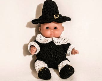 Mr. Pilgrim Outfit for the Itty Bitty Baby by Berenguer Lots to Love Baby Doll