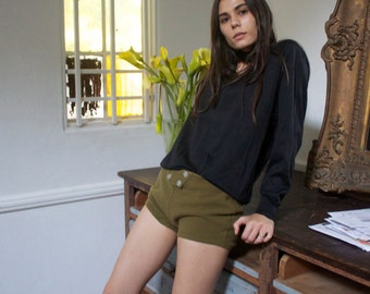 Vintage wool army shorts