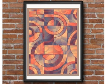 Abstract Circles Poster