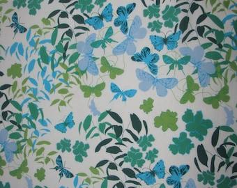 Vintage silk SHAWL spring WRAP Marja Kurki scarf  Finland butterfly pattern