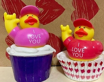 10 Duckies Soap Cupcakes/ soap/cupcakes/ kids/partyfavors/gift/ rubber duckies/ handmade soap