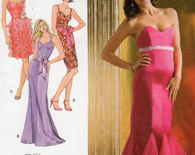 Simplicity 2639 Sewing Pattern Free Us Ship Day Evening Cocktail Dress Formal Size 4/12 12/20 Bust 29 30 32 34 36 38 40 42 Plus Uncut