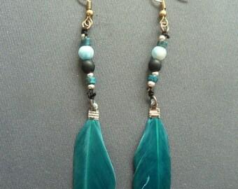 Earrings, Feathers, Feather Earrings, Ear Jewelry, Feather Jewelry,