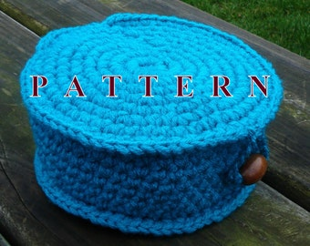 Crochet basket with lid PATTERN basket crochet pattern basket storage crochet pattern storage crochet home decor gift OlgaAndrewDesigns099