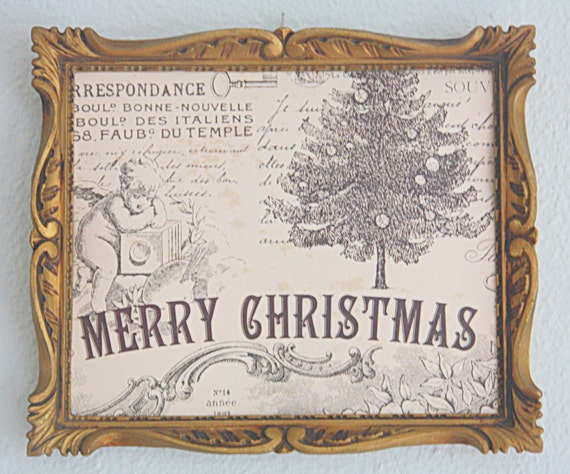 Vintage Ornate Gilded Composite or Plastic Open Frame,  Wall Decor