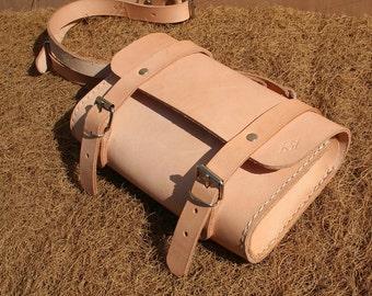 Shoulder bag handbag Kitatasche leather unique