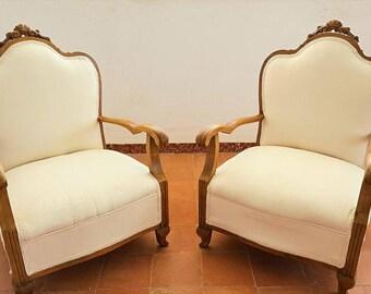 Butacas descalzadoras años 50 / 1950s boudoir chairs