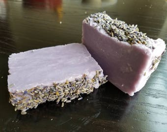 Lavender soap coconut oil. Homemade soap. Handmade soap. All natural hot process soap essential oil