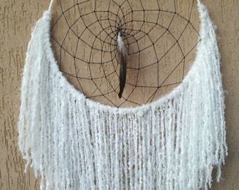 Boho Dreamcatcher White Black