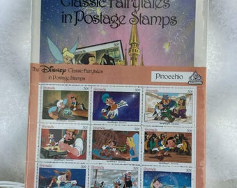 The Disney Classic Fairytales in Postage Stamps- Pinocchio   1987