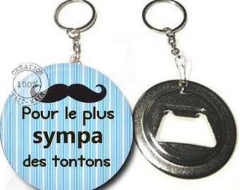 Keychain bottle opener for the most fun tontons
