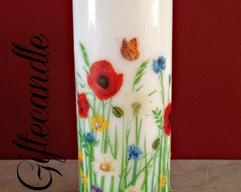 Decorated candle, Personalized Candle, Spring Pattern Scented Candle, Home Decor, Gift,