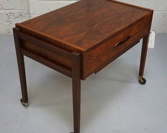 Vintage Danish Rosewood Sewing Table