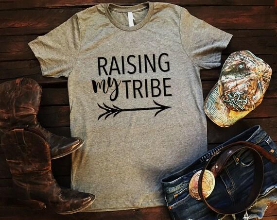Raising My Tribe Arrow Tribal Unisex T Shirt, Southern T Shirt, Country Shirt, Concert Tribal Shirt, Mom Shirt, Boutique Shirt