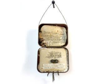 Nostalgic Altered Tin — Altered Tin Gift — James Whitcomb Riley Altered Tin