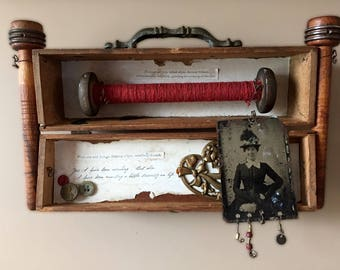 Antique Spool Assemblage — Antique Tin Type Assemblage