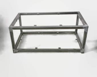 industrial table coffee table welded table metal end table metal table frame - Metal Table Frame