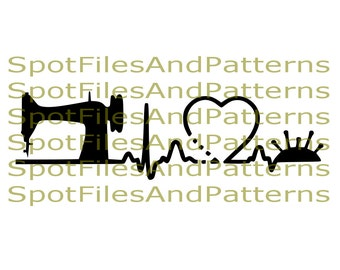 I Love Sewing SVG File and PNG File |  Sewingsvg file  | Sewing png file