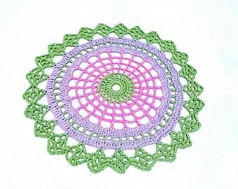 """Spring Mandala Crochet doily 9"""" Easter home decor"""