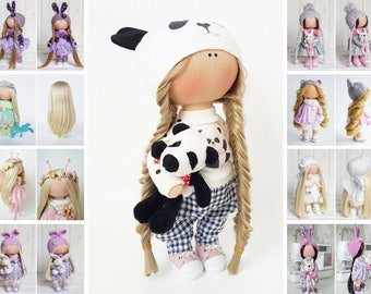 Fabric doll Puppen Interior doll Textile doll Tilda doll Handmade doll Bonita doll White doll Cloth doll Baby doll Nursery doll by Tanya E