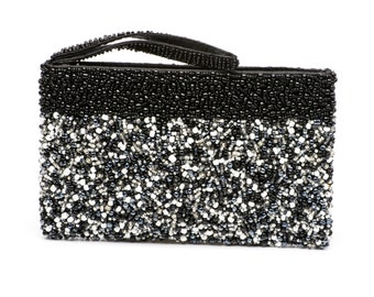 Beaded Clutch in Black and White