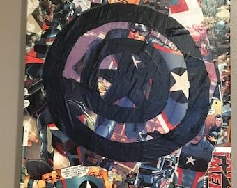 Captain America Comic Book Canvas