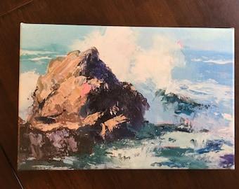 "Ocean Spray - Canvas Print 12"" x 8"""