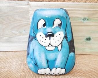 George Horner & Co. Sweet/Toffee Tin - Comical Blue Dog