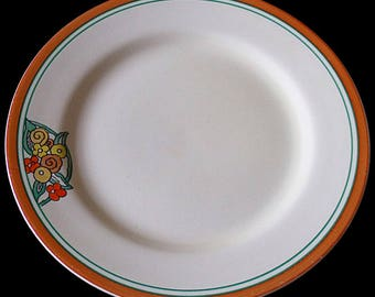 Large Clarice Cliff Bizarre Stamford Plate - 1930's Art Deco