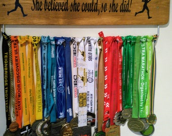 She believed she could so she did. GB Medal Board Hanger 70cm width runner Ladies