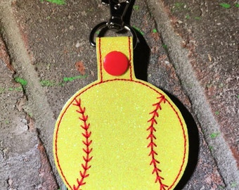 Softball Keychain-softball bag tags-softball gift