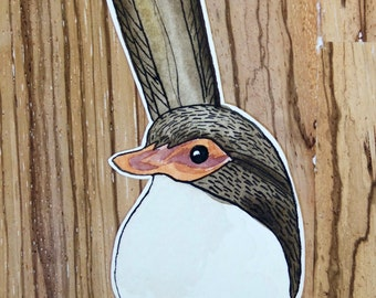 """Illustrated Hand made greeting card """"Wren"""""""
